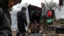 """Camp de Moria à Lesbos, """"honte de l'Europe"""""""