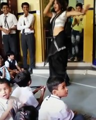 School teacher dance video