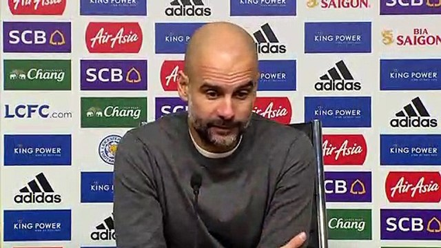 Guardiola says Manchester City must 'accept reality' after 2-1 defeat to Leicester