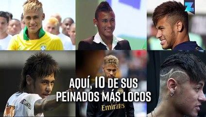 Neymar con rastas: sus 10 peinados más locos
