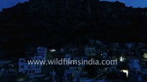 Mehrangarh Fort in Jodhpur - night-time aerial journey back in time