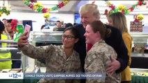 Donald Trump auprès des troupes en Irak