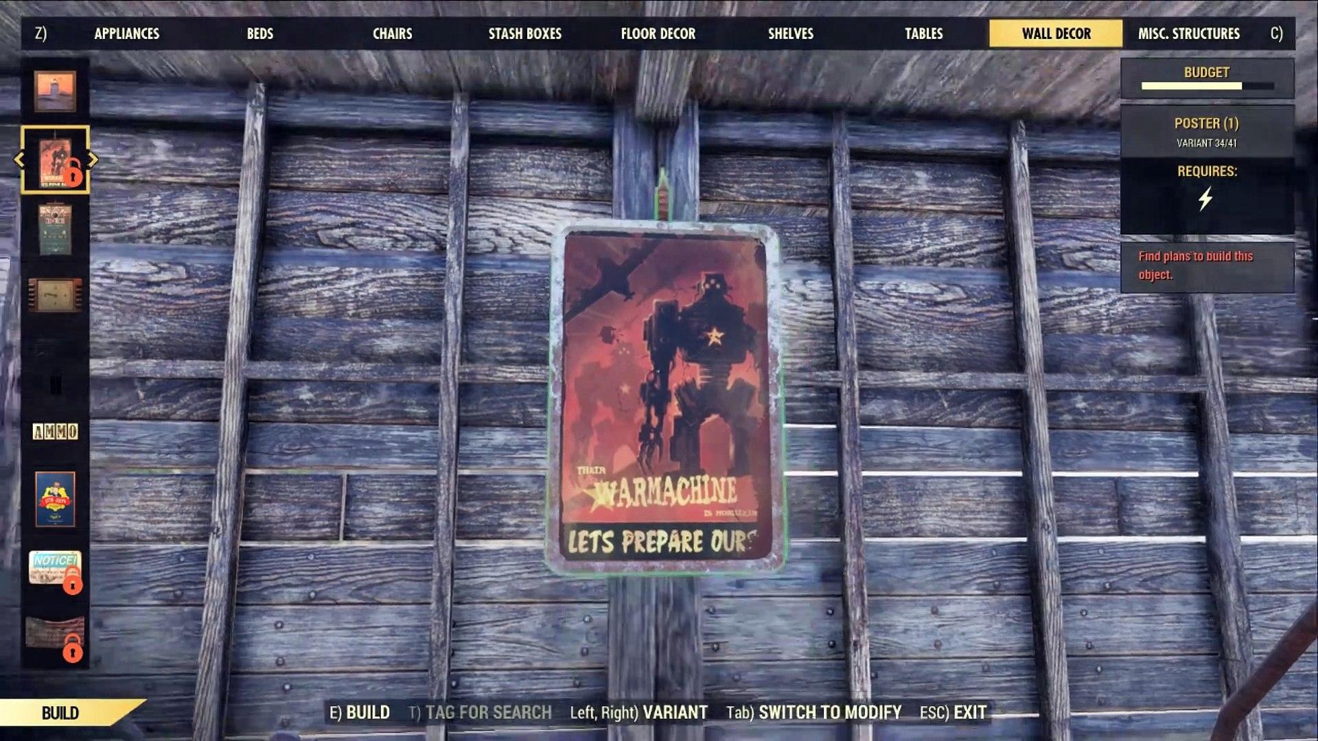 Fallout 76 Secret Glitch Guide - Build Without Plans!