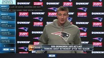 """Rob Gronkowski """"All In"""" For Patriots For Rest Of 2018 Season"""