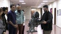 Hocalı katliamını hurda metalden yaptığı heykel ile anlattı - ELAZIĞ