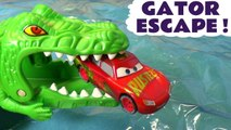 Cars 3 Hot Wheels Gator Escape with Disney Pixar Lightning McQueen and Marvel Avengers 4 Superheroes including Spiderman, The Hot Wheels superheroes must Rescue their friends from a toy monster - A fun toy story race for kids and preschool children