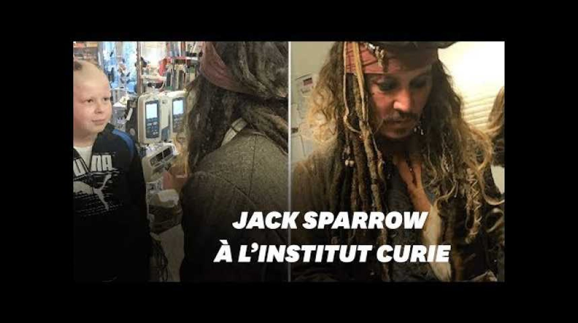 Déguisé en Jack Sparrow, Johnny Depp rend visite aux enfants malades à l'Institut Curie