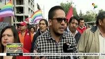 teleSUR noticias. Chilenos se manifiestan en apoyo a causa mapuche