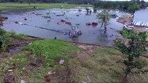 Indonésie: images aériennes de champs inondés