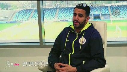 Riyad Mahrez s'exprime au micro de RMC Sports