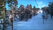 Cıbıltepe Kayak Merkezi'nde çok sayıda kişi mahsur kaldı (1) - KARS