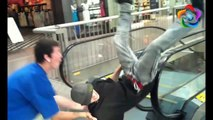 Funny Escalator Fails Compilation - Epic Escalator Fails