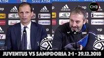 Juventus-Sampdoria 2-1 - Post Partita - Polemiche VAR - Interviste + Conferenze Stampa ALLEGRI e GIAMPAOLO