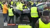 Gilets Jaunes - Regardez à Calais cette voiture qui force les barrages des manifestants devant les caméras