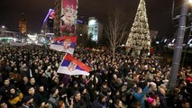 Thousands flood the streets of Belgrade in fourth straight weekend of anti-government protests