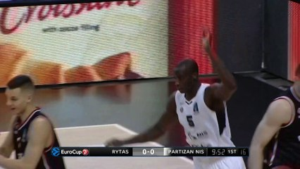 7Days EuroCup Highlights Top 16, Round 1: Rytas 80-74 Partizan