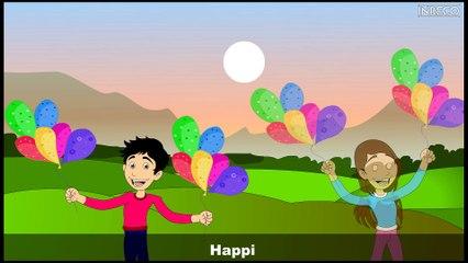 Nursery Rhymes | HAPPY | Sujatha | English Children Song