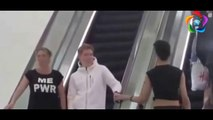 Touching Strangers Hand On Escalator Prank - Touching Peoples Hand on Escalator Prank
