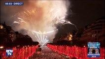 Nous sommes en 2019 ! Revivez le feu d'artifice tiré depuis l'Arc de Triomphe pour le passage à la nouvelle année