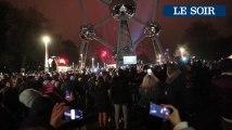 Bruxelles: Le passage à la nouvelle année à l'Atomium