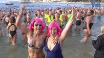 Un bain de fraicheur pour bien commencer l'année sur les plages du Mourillon à Toulon