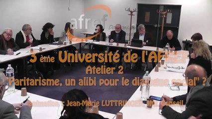 AFREF Université Atelier 2 Paritarisme un alibi pour le dialogue social ?