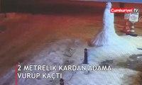 Kardan adama yaptığı hareket sosyal medyada gündem oldu