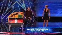 Magician Saws Heidi Klum In Half on America s Got Talent   Magicians Got Talent