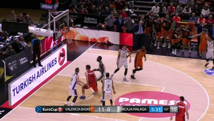 7Days EuroCup Highlights Top 16, Round 1: Valencia 85-74 Unicaja