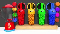 Learn Colors Bunny Mold and m&m Chocolate Blender Toy Animals for Kids Children