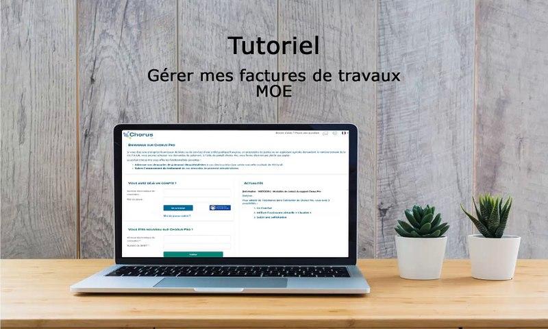 Tutoriel Chorus Pro 2019 - Gérer les factures de travaux pour les MOE