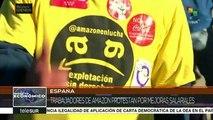 España: trabajadores de Amazon exigen mejoras laborales y salariales