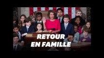 Nancy Pelosi fait son retour au Congrès américain en famille