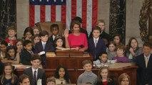 Nancy Pelosi swears in new members of most diverse Congress ever