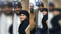 Ranbir Kapoor & Alia Bhatt spotted at New York streets; Check Out | FilmiBeat