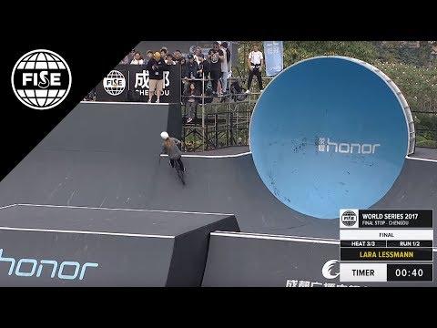 Lara Lessman: 2nd Final UCI BMX Freestyle Park World Cup Women's FISE World Series Chengdu 2017