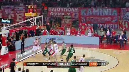 EuroLeague 2018-19 Highlights Regular Season Round 16 video: Olympiacos 79-65 Panathinaikos