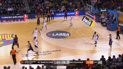 EuroLeague 2018-19 Highlights Regular Season Round 16 video: Barcelona 97-65 Darussafaka