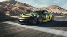 New Porsche 718 Cayman GT4 Clubsport featuring natural-fibre body parts