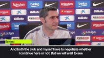 Eng Sub: Valverde coy over Barcelona exit rumours