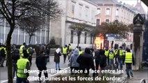 Bourg-en-Bresse : face à face entre les Gilets jaunes et les forces de l'ordre