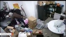 Watch  Burglary Suspects Crash Stolen U-Haul Into T-Mobile Store
