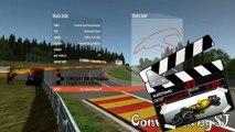Tour de piste à Spa Francorchamps en Formule 1 88'sur Rfactor 2