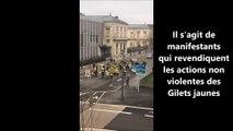 Bourg-en-Bresse : un groupe de Gilets jaunes en ville le dimanche