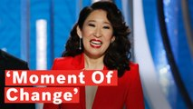 Golden Globes 2019: Sandra Oh Celebrates 'Moment Of Change' In Emotional Opening Speech