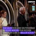 Rami Malek reste Freddie Mercury aux Golden Globes