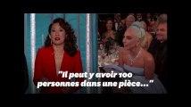 Aux Golden Globes, Sandra Oh se moque de Lady Gaga, qui le prend bien