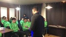 Causerie Yannick Blanchard, manager de la GSI Pontivy, deux heures avant le match contre Paris