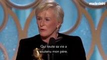Golden Globes 2019 : l'émouvant hommage de Glenn Close à sa mère