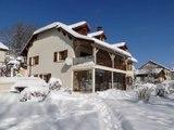 Gîte du Haut-Jura en hiver avec sauna, classé 3 épis aux Gîtes de France - www.gitedujura.com